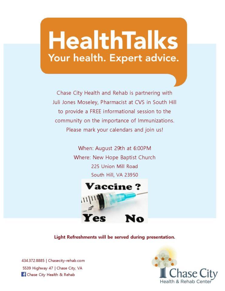 importance of immunizations  august healthtalks